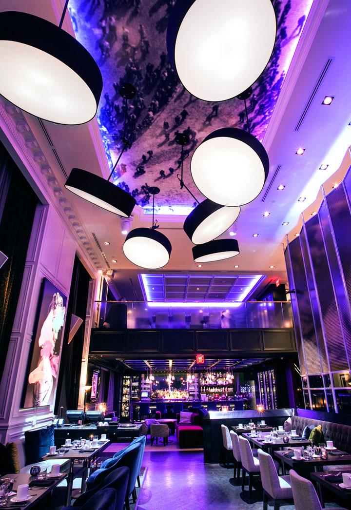 America Restaurant lighting by Viso Toronto  Canada