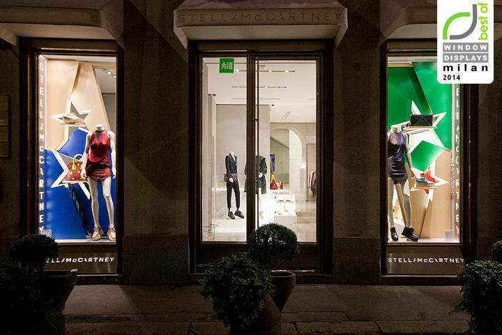 Stella McCartney Fashion Week windows 2014 Milan  Italy