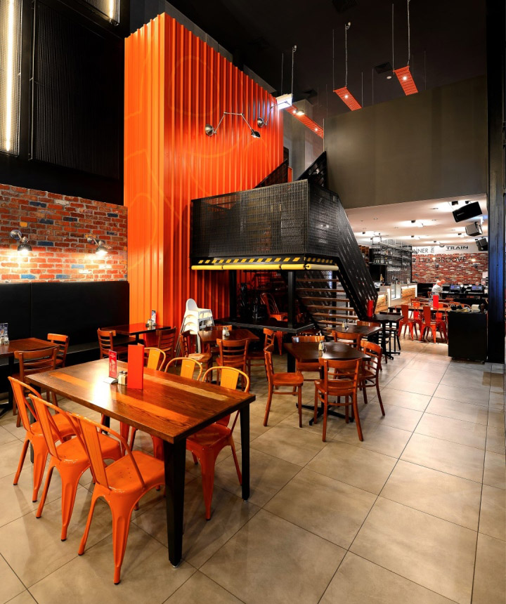 The Groove Train Southland Flagship Restaurant By Blackbox Retail Projects Melbourne