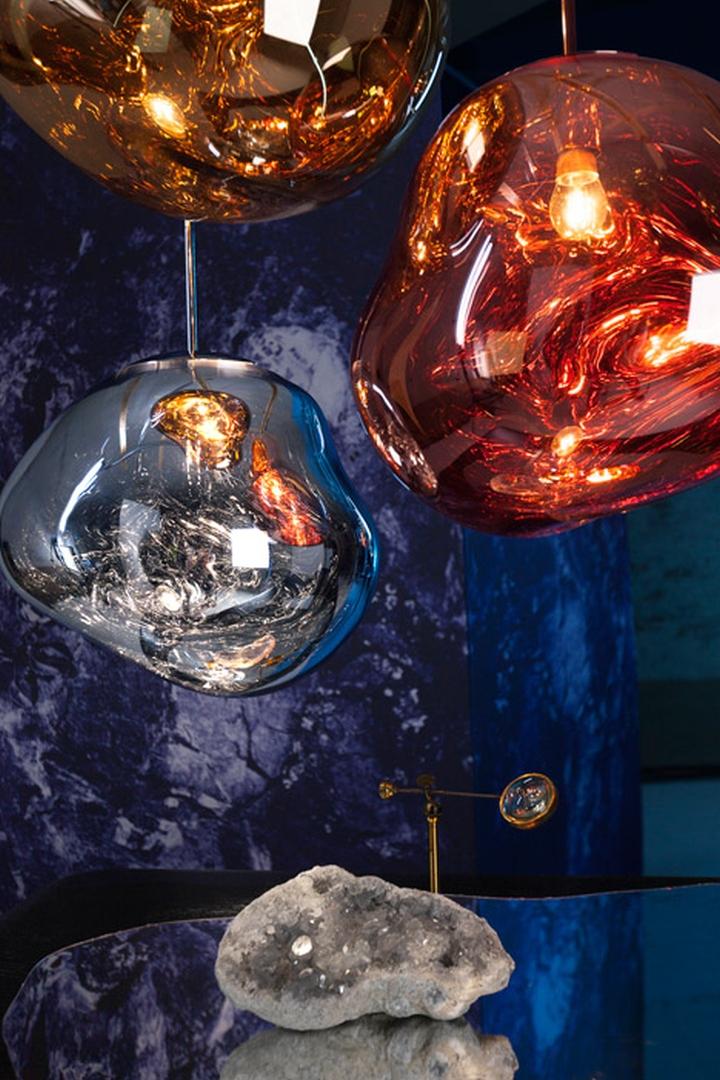 Hammered Copper Pendant Lights