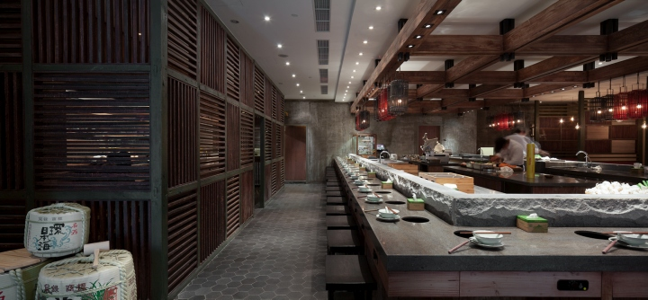 Qimin Hot Pot Restaurant by Hot Dog Decor Interior