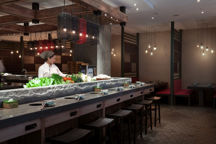 Qimin Hot Pot Restaurant by Hot Dog Decor Interior Design Shanghai  China