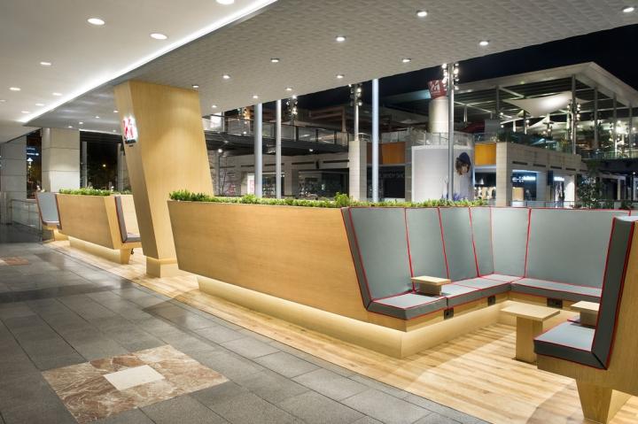 La Maquinista Shopping Center rest area by Egue y Seta Barcelona  Spain