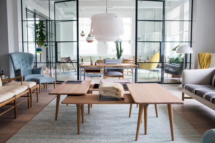Carl Hansen  Son showroom New York  Retail Design Blog