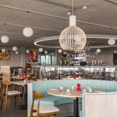 White Washed Oak Dining Table And Chairs Full Recline Zero Gravity Chair With Massage Technology British Airways I360's Restaurant By Marks Barfield Architects & Inside Out, Brighton – Uk ...