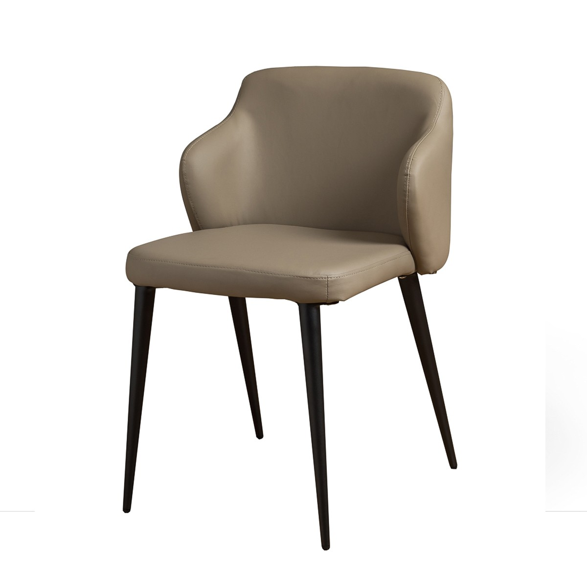 Taupe Dining Chairs Taupe Designer Dining Chair With Powder Coated Metal Legs