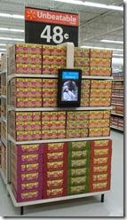 Walmart EndCap sign