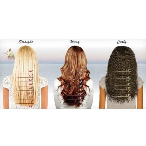 Micro Loop Human Hair Extensions 16Inches Dark Brown