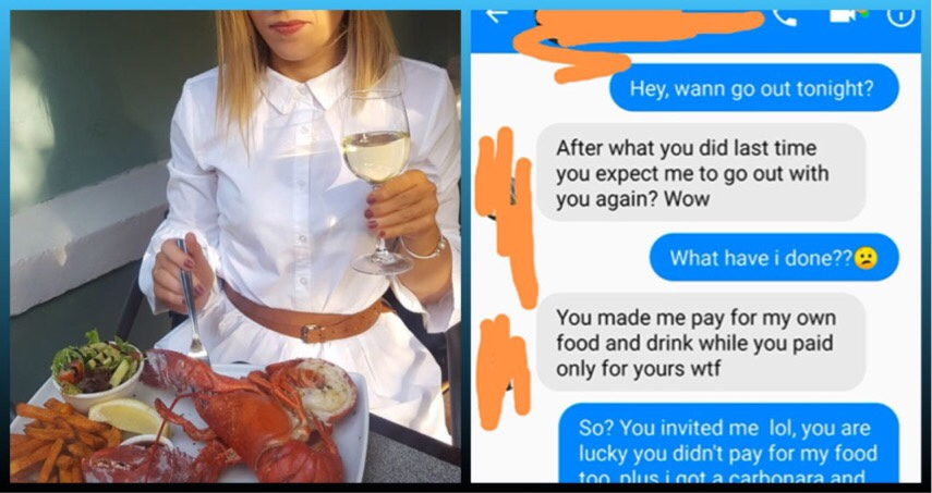 Guy Refuses To Pay $126 For His Date's Food, Check Out What She Did After That