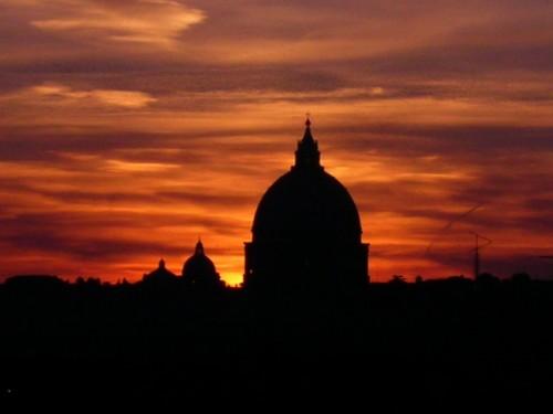 Roma  Rosso tramonto