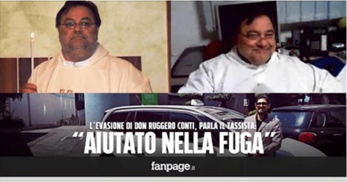 """Don Ruggero Conti, parla il tassista dell'evasione: """"Aiutato nella fuga con tablet e soldi"""""""