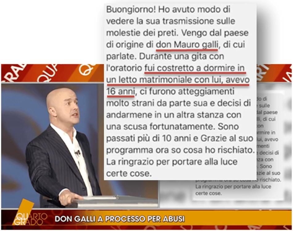 Caso don Mauro Galli: emergono nuovi particolari inquietanti, UN ALTRO MINORE fu costretto a dormire nel letto matrimoniale del prete.