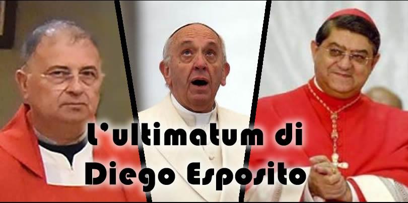 Ultimatum di Diego Esposito a papa Francesco e alla curia di Napoli, o intervenite o mi incatenerò a oltranza davanti alla diocesi