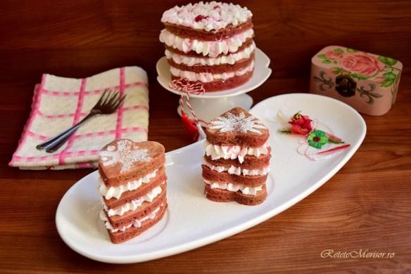 Mini tortulețe din clătite cu sfeclă roșie
