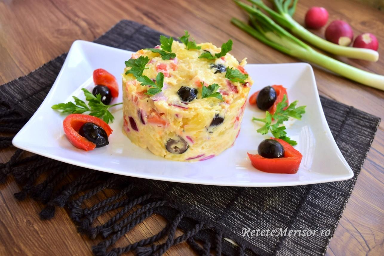 Salată orientală cu maioneză de post