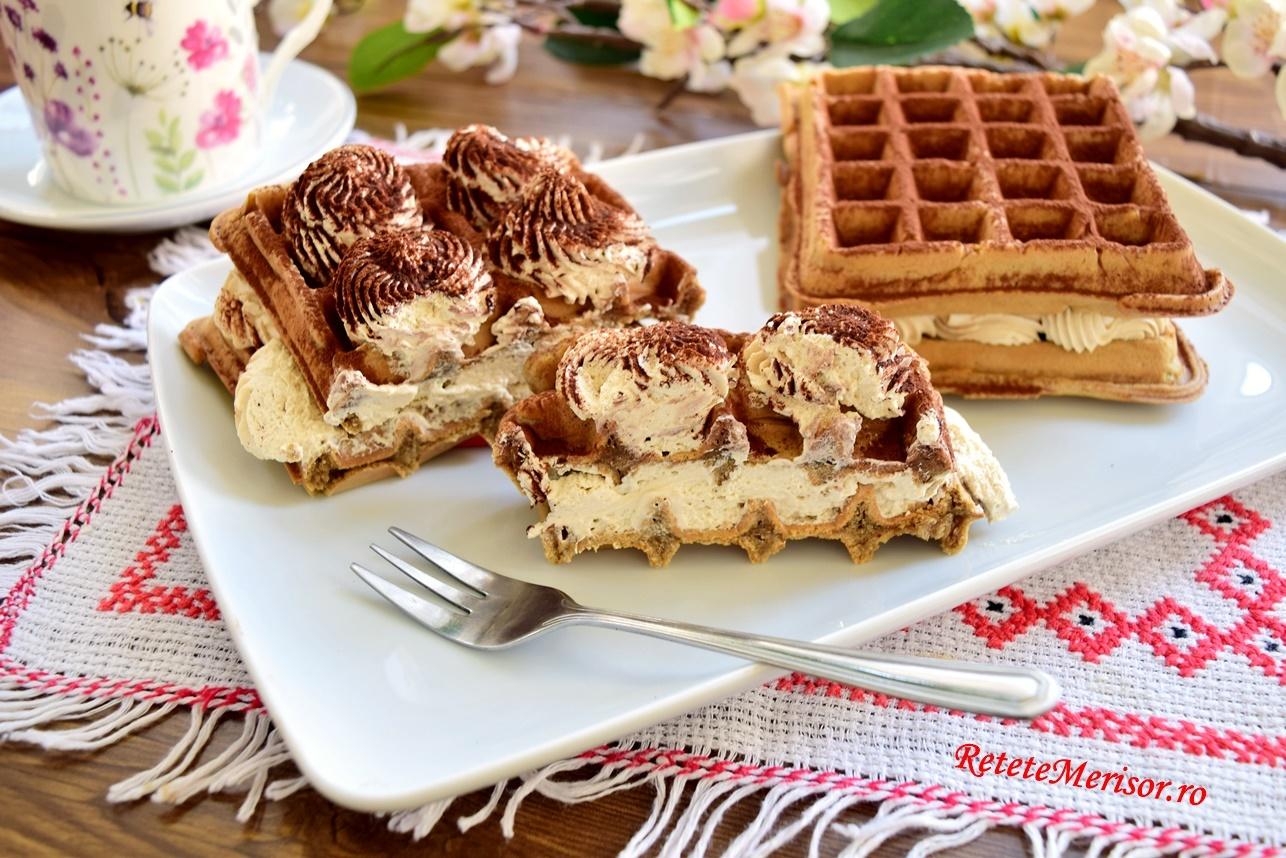 Vafe Tiramisu sau Tiramisu Waffles