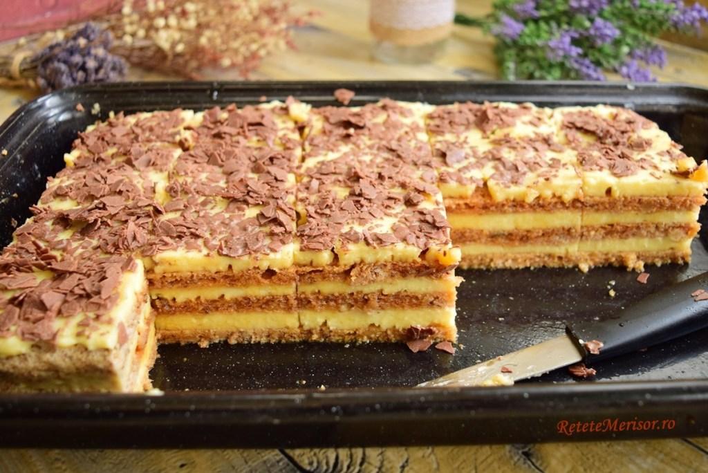 Prăjitura Deliciu cu lămâie și caramel