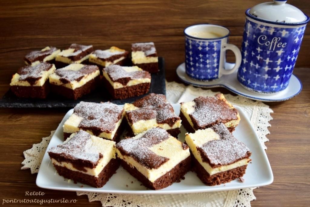 prăjitură cu ciocolată și urdă