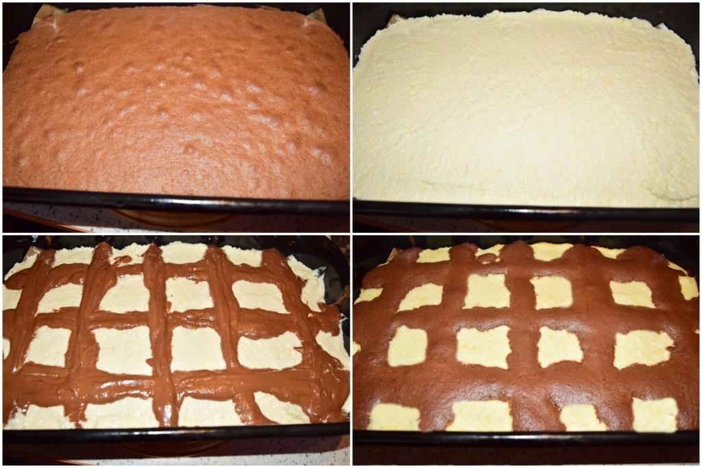 Asamblare și coacere prăjitură cu ciocolată și urdă