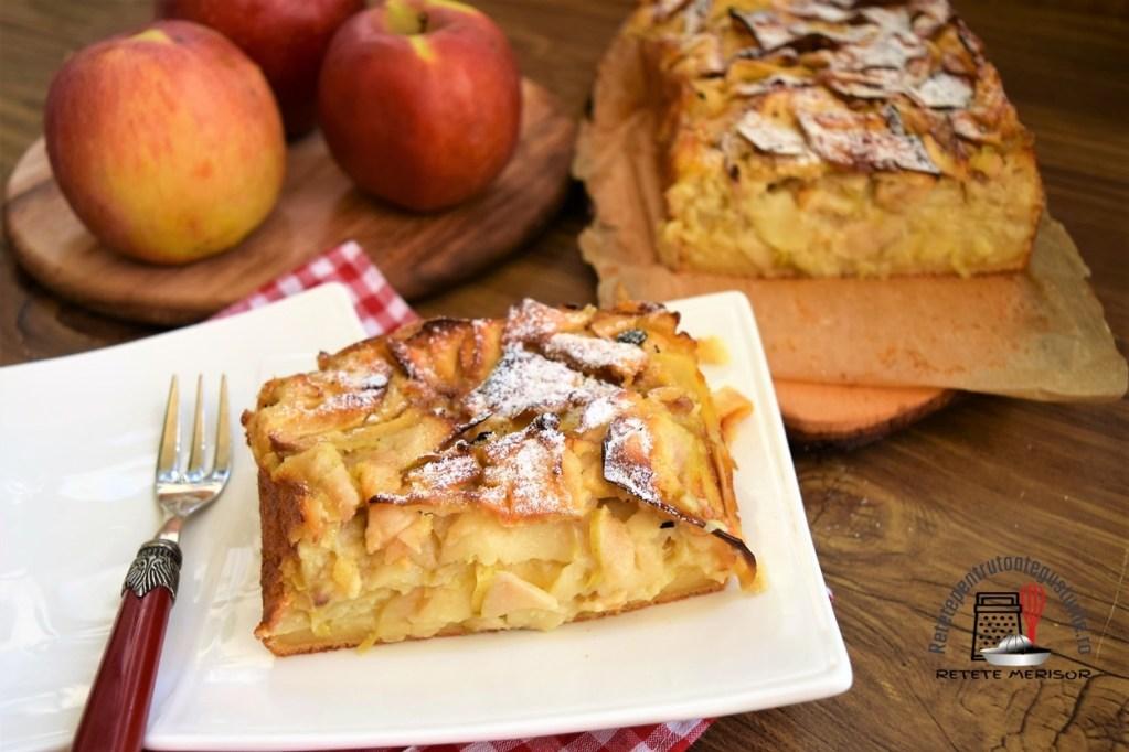 Budincă de mere cu vanilie și lămâie