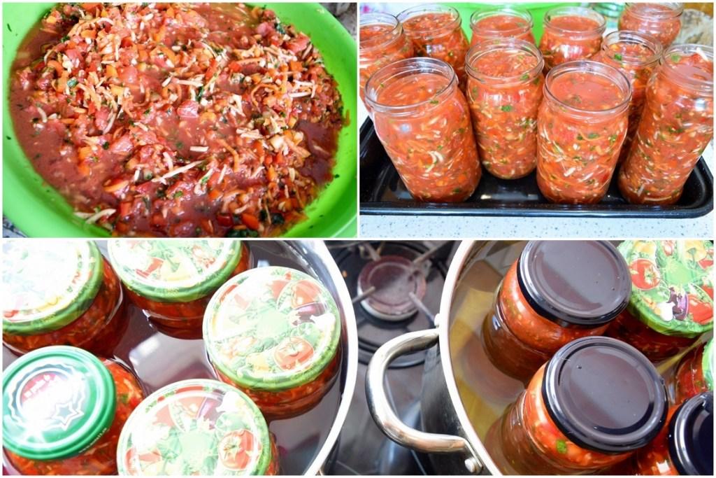 Colaj de poze cu pașii de pregătire a ingredientelor pentru rețeta de zarzavat pentru ciorbe