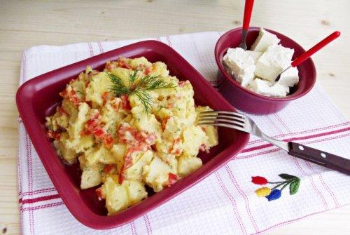 Salata de cartofi cu ardei kapia copti