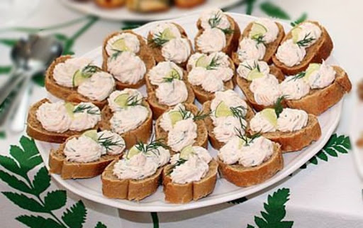 Salata de icre cu somon fumee