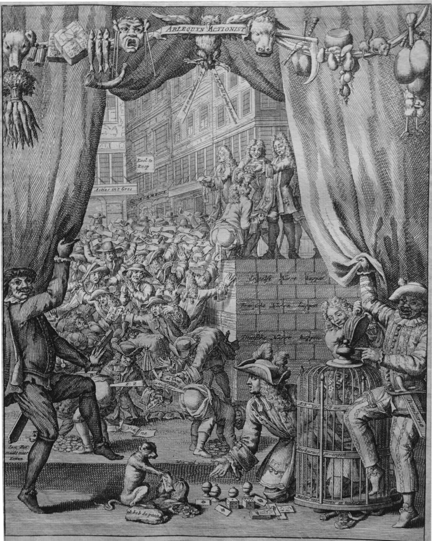 ILLUSTRASJON: FRA «HET GROOTE TAFEREEL DER DWAASHEID», AMSTERDAM, 1720