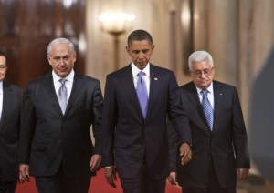 As Abbas and Obama grimly cast their eyes down, Bibi savors a triumph over hope and peace.