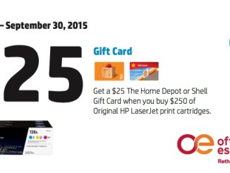 Get a $25 Gift Card When You Buy Original HP Toner