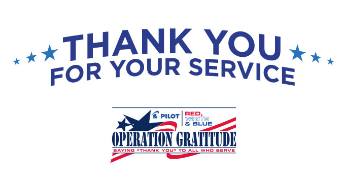 Pilot Pen is supporting the Red, Write and Blue Initiative