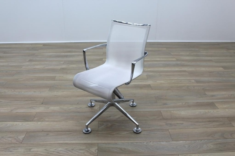 white mesh office chair uk sure fit wing slipcover alias chrome base meeting chairs rethink
