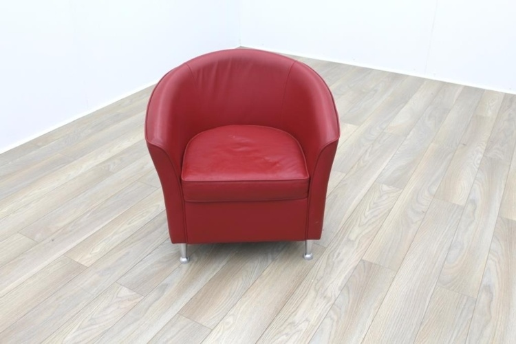 Red Leather Office Reception Tub Chairs  Red  Rethink