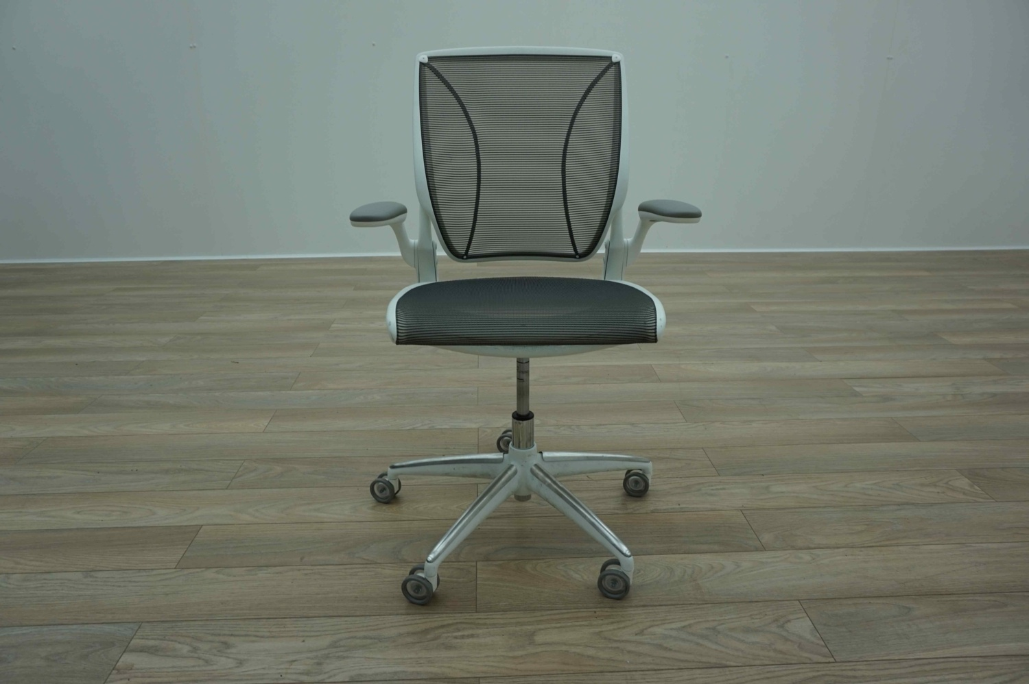 Humanscale Diffrient World Chair Humanscale Diffrient World White Grey Mesh Office Task