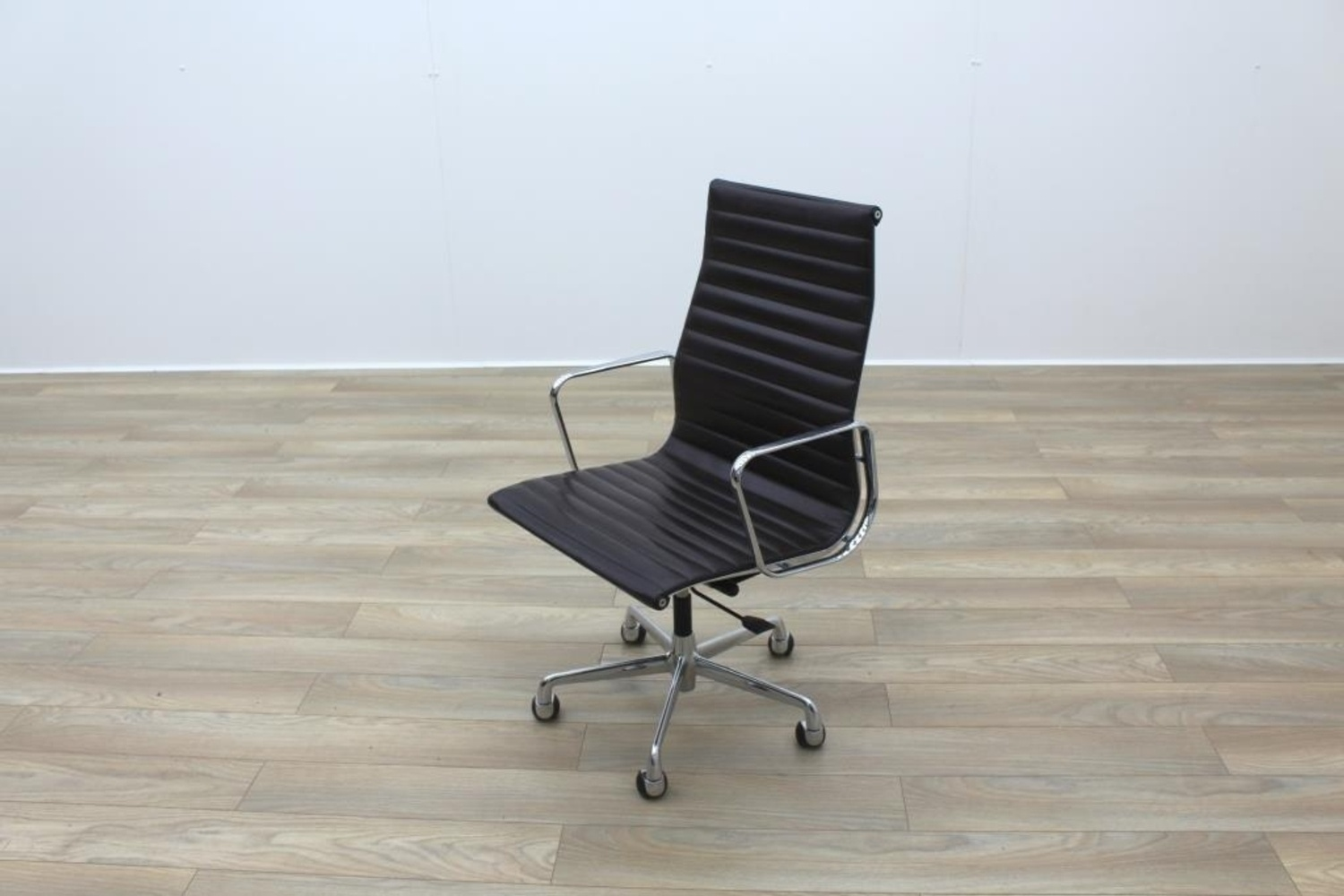 Genuine Leather Office Chair Genuine Charles Eames Ea119 By Icf Brown Leather Ribbed