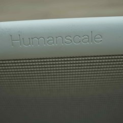 Humanscale Diffrient World Chair White Blue Kitchen Chairs Uk Grey Mesh Office Task