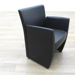 Black Leather Reception Chairs Double Papasan Chair Metal Frame Task Office Tub Ebay