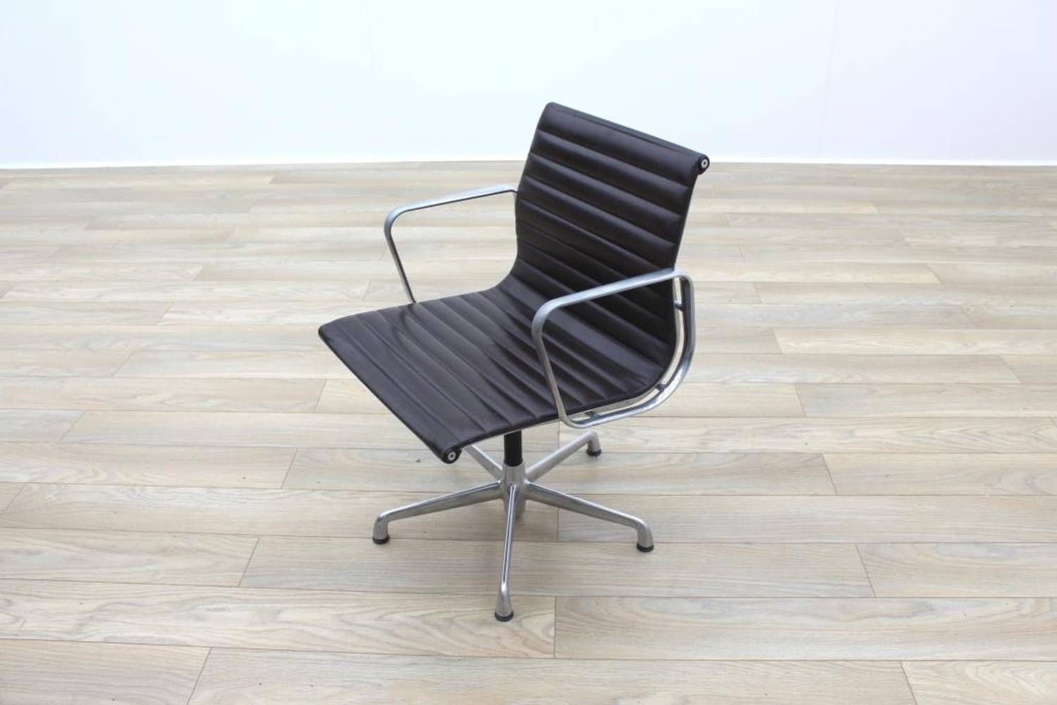 Genuine Leather Office Chair Genuine Charles Eames Ea108 By Icf Brown Leather Ribbed