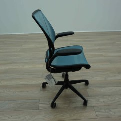 Humanscale Diffrient World Chair White Studded Dining Room Chairs Light Blue Mesh Office Task