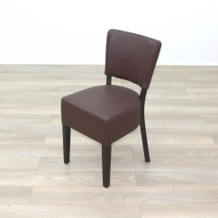 Quality Leather Dining Chairs Covers For Ikea Nils Chair New Brown Contract Restaurant Cafe