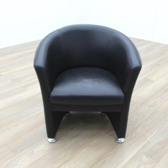 Black Leather Reception Chairs Posture Deluxe Wooden Kneeler Chair Office Tub Ebay