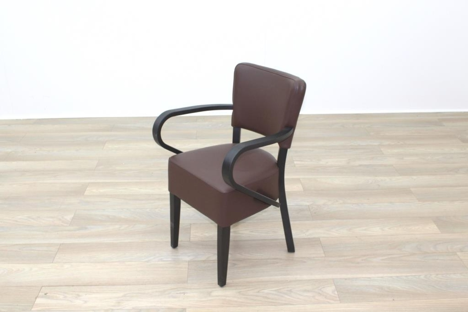 quality leather dining chairs small club new brown walnut back contract