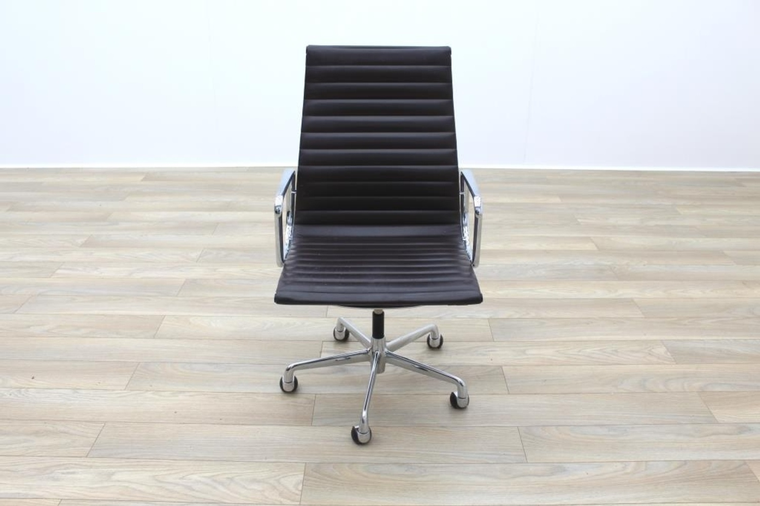 office chair under 20 chicco polly high genuine charles eames ea119 by icf brown leather ribbed
