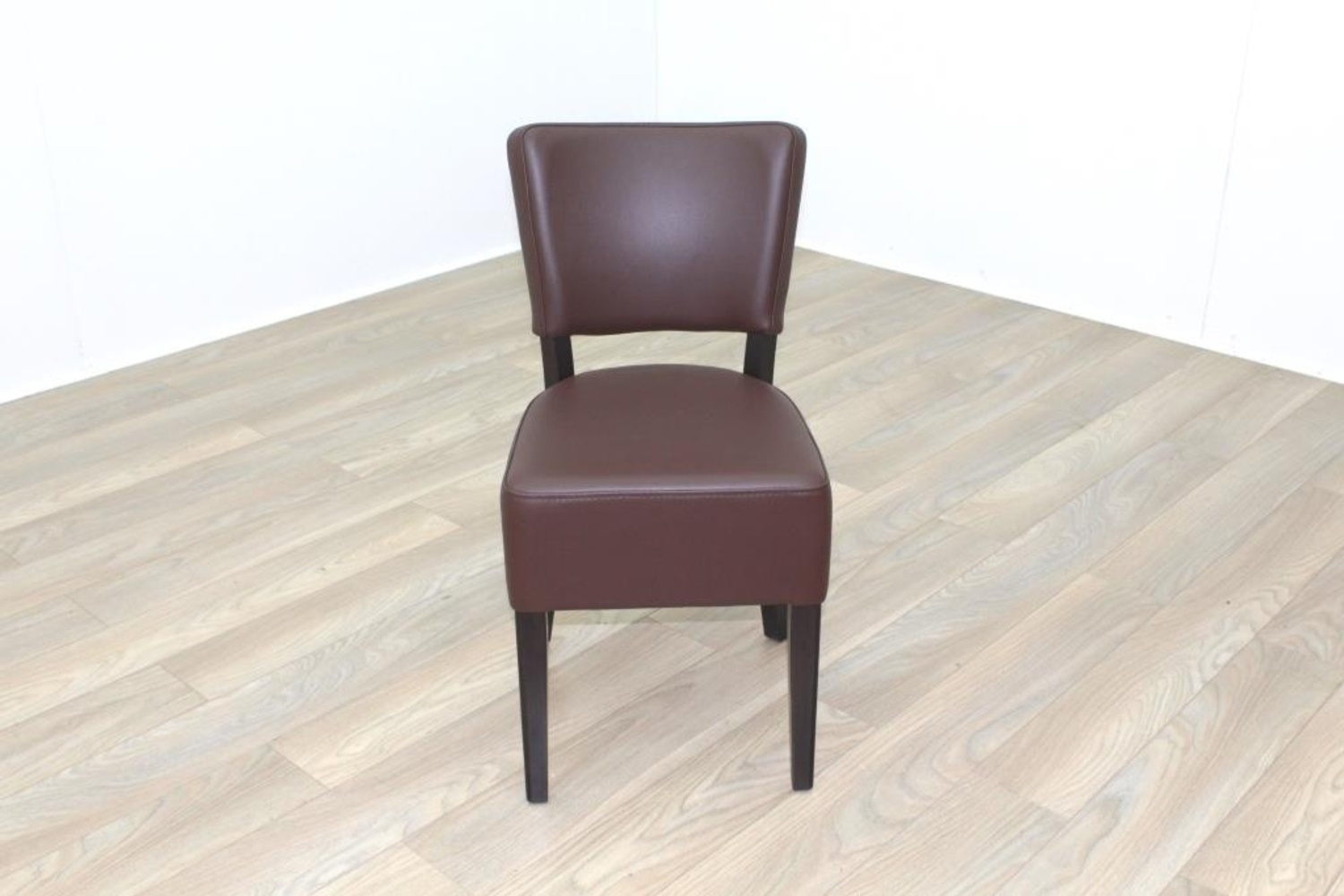 quality leather dining chairs swivel chair ebay new brown contract restaurant cafe