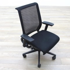 Black Mesh Office Chair Old Fashioned High Steelcase Think Fabric Task Chairs Ebay