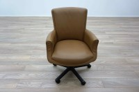 Bernhardt Tan Leather Executive Office Meeting Chairs | eBay