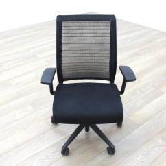 Fabric Office Chairs Uk Wood Floors Chair Wheels Steelcase Think Black Mesh Task Ebay