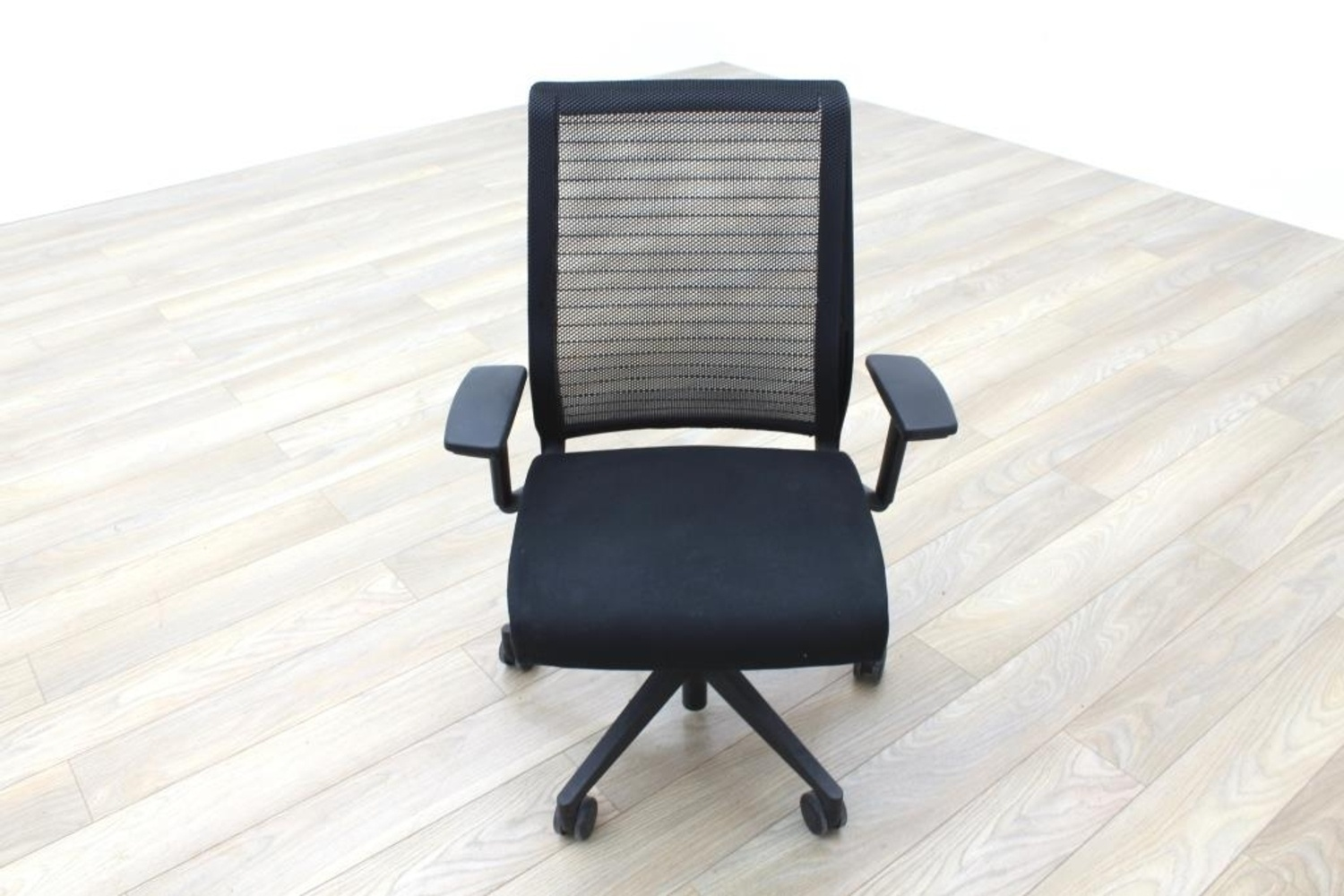 black mesh office chair hanging lowes steelcase think fabric task chairs ebay