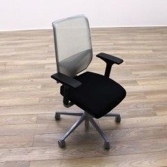 White Mesh Office Chair Uk Ashley Showood Accent Giroflex G68 Black Fabric Task Chairs