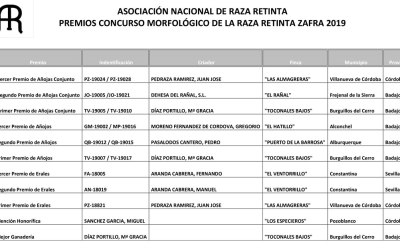 Premios del concurso morfológico de Raza Retinta en la Feria de Zafra
